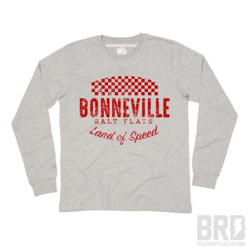 T-shirt Manica Lunga Bonneville Salt Flats Grey