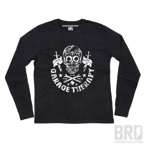 T-shirt Manica Lunga Garage Therapy Black