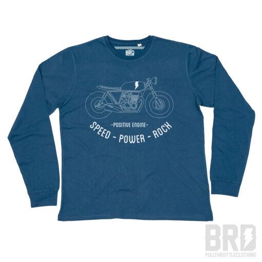 T-shirt Manica Lunga Speed Power Rock Navy
