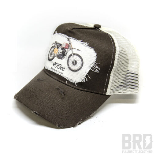 Cappellino Vintage Trucker Cap Husky 400 Marrone