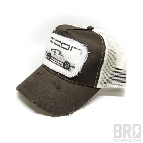 Cappellino Vintage Trucker Cap Porsche Carrera Marrone