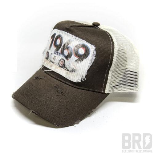 Cappellino Vintage Trucker Cap Gt 40 Marrone