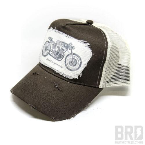 Cappellino Vintage Trucker Cap Urban Rider Marrone