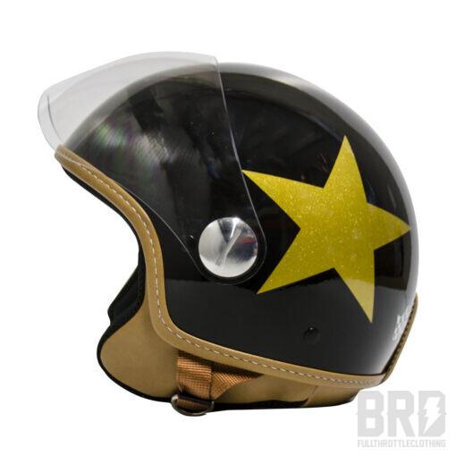 Casco Demijet Star Nero Oro