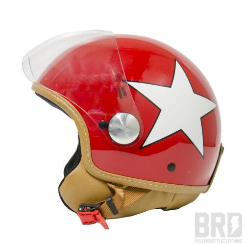 Casco Demijet Star Rosso