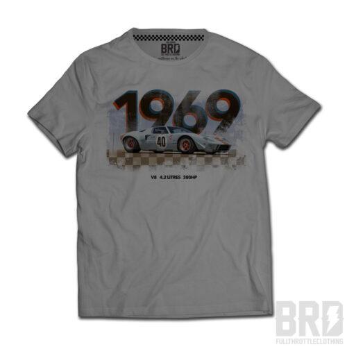 T-shirt Ford Gt 40 1969 Light Grey